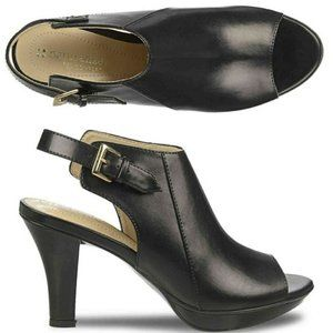 Naturalizer N5 Comfort Black Peep Toe Shooties